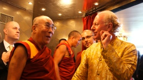 His Holiness with Philanthropist Bobby Sager